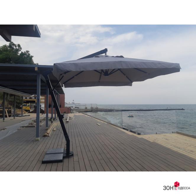 Аллюминиевый консольный зонт с аллюминиевыми рёбрами