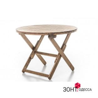 Стол деревянный, круглый, складной, дубовый
